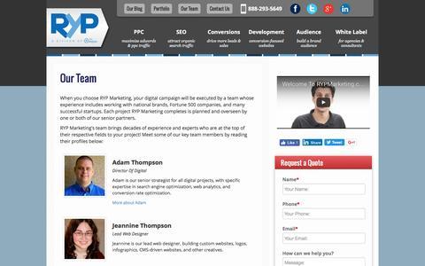 Screenshot of Team Page rypmarketing.com - RYP Marketing Team - captured Dec. 4, 2016
