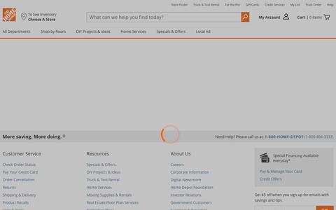 Screenshot of Login Page homedepot.com - The Home Depot - captured Jan. 11, 2018