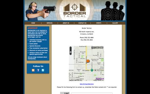 Screenshot of Contact Page bordertactical.com - Border Tactical Website - captured Oct. 5, 2014