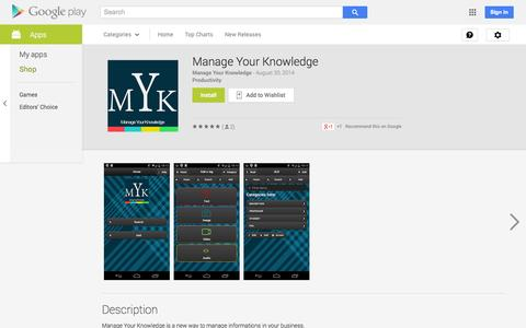 Screenshot of Android App Page google.com - Manage Your Knowledge - Android Apps on Google Play - captured Oct. 27, 2014