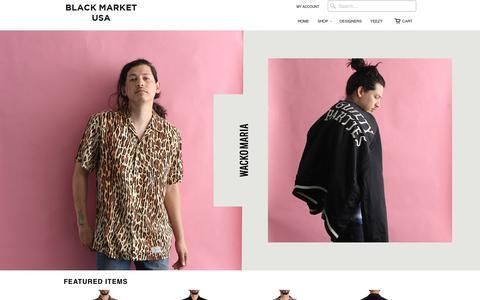 Screenshot of Home Page blkmkt.us - Black Market USA - captured June 30, 2017