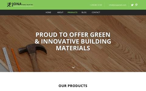 Screenshot of Products Page jonapanels.com - Products - Jona Panel Sales Inc. - Jona Panel Sales Inc. - captured Oct. 14, 2018
