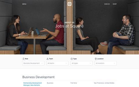 Screenshot of Jobs Page squareup.com - Jobs at Square - captured Dec. 17, 2016