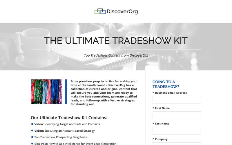 Ultimate Tradeshow Prospecting Kit | DiscoverOrg