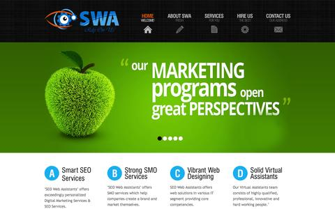Screenshot of Home Page seowebassistants.com - SEO Web Assistants   Digital Marketing Services   SEO Services   SMO Services   Web Designing and Development - captured Sept. 30, 2014