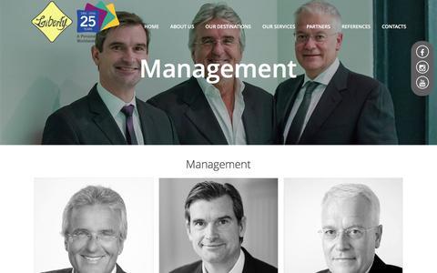 Screenshot of Team Page liberty-int.com - Management - captured Jan. 5, 2017