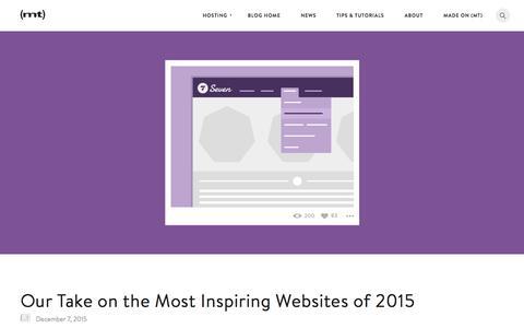 Screenshot of Blog mediatemple.net - 5 Most Creatively Inspiring Websites of 2015 - captured Dec. 17, 2015