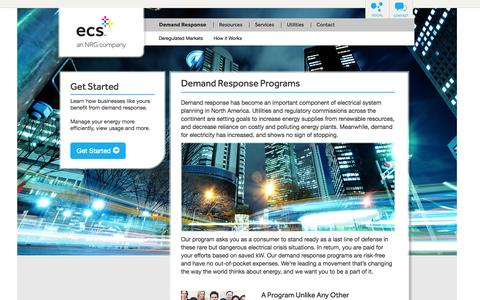 Screenshot of Blog Press Page ecsgrid.com - Demand Response Programs | Demand Response Providers - captured Oct. 22, 2014