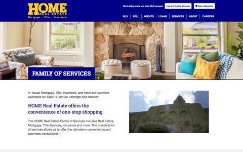 Screenshot of Services Page homerealestate.com - Services | Lincoln, NE Real Estate, Houses for Sale | Home Real Estate - captured July 16, 2016