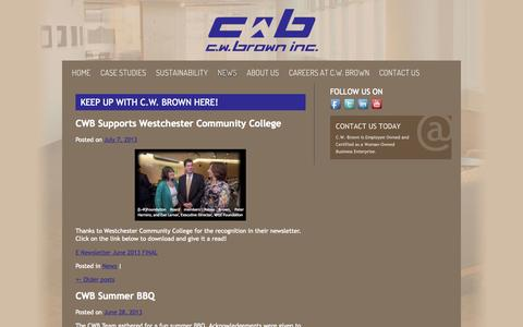 Screenshot of Press Page cwbrown.net - Keep Up with C.W. Brown Here! | C.W. Brown Inc. - captured Oct. 1, 2014