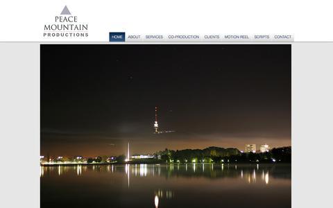 Screenshot of Home Page peacemountain.com.au - Peace Mountain Productions - captured July 18, 2017