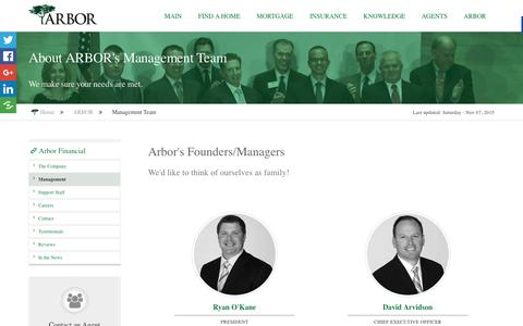 Screenshot of Team Page arborfinancialgroup.net - Arbor Financial Group Managers President CEO Tustin CA - captured Feb. 6, 2016