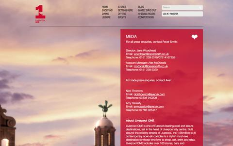 Screenshot of Press Page liverpool-one.com - Media   Liverpool ONE - captured Sept. 19, 2014