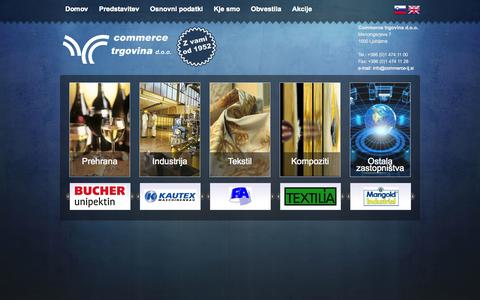 Screenshot of Home Page commerce-lj.si - Naslovnica :: Commerce trgovina - captured Oct. 2, 2014