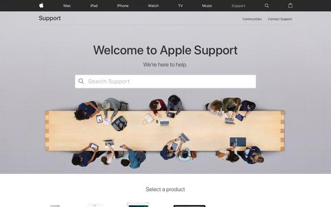 Screenshot of Support Page apple.com - Official Apple Support - captured April 8, 2017