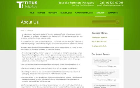 Screenshot of About Page titusinteriors.co.uk - About Us      Titus Interiors - Your Total Furnishing Solution - captured Oct. 7, 2014