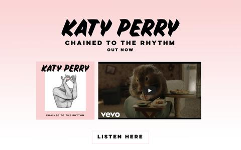 Screenshot of Home Page katyperry.com - Katy Perry - captured Feb. 14, 2017