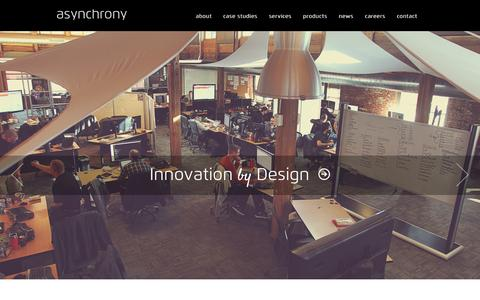 Screenshot of Home Page asynchrony.com - Home - Asynchrony - Application & Mobile Development - captured Sept. 22, 2014