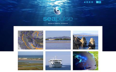 Screenshot of Home Page seapulse.pt - SeaPulse - Ocean & Coastal Dynamics - captured Sept. 30, 2014
