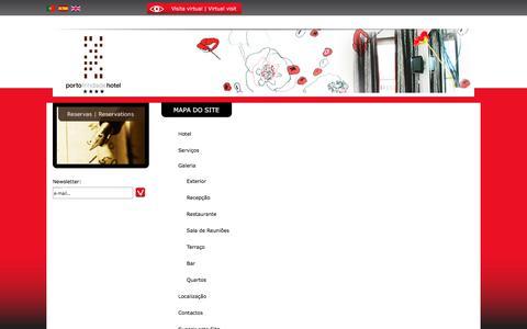 Screenshot of Site Map Page portotrindadehotel.com - Mapa do Site :: Porto Trindade Hotel**** - captured July 20, 2018
