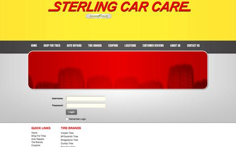 Screenshot of Login Page sterlingcarcare.com - User Log In - captured Feb. 24, 2016