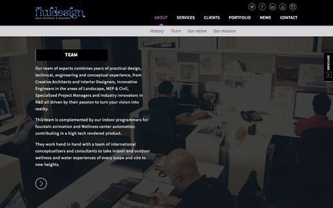 Screenshot of Team Page fluiddesign.me - Fluid - captured Feb. 10, 2016