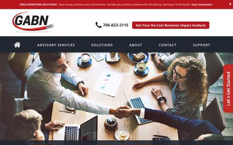 Screenshot of Home Page gabn.net - GABN.net Communications Technology - GABN : GABN - captured July 2, 2018