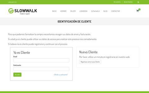 Screenshot of Login Page slowwalk.es - Slowwalk Footwear® | Tienda online oficial de calzado cómodo y diseño - captured May 17, 2017