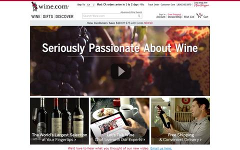 Screenshot of About Page wine.com - Wine.com Video - captured Jan. 13, 2016