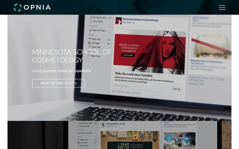 Screenshot of Case Studies Page opnia.com - Work - captured Jan. 10, 2016