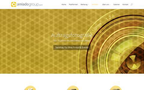 Screenshot of Services Page amiadogroup.com - Auftragsfotografie - amiadogroup.com - captured Feb. 6, 2016