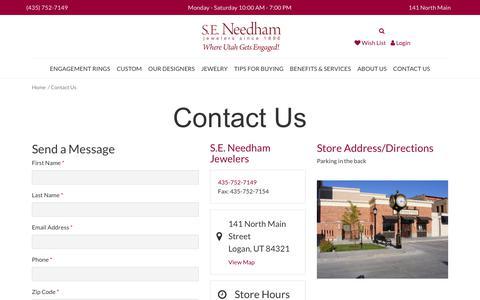 Screenshot of Contact Page seneedham.com - S.E. Needham:  Contact Us - captured Sept. 26, 2017