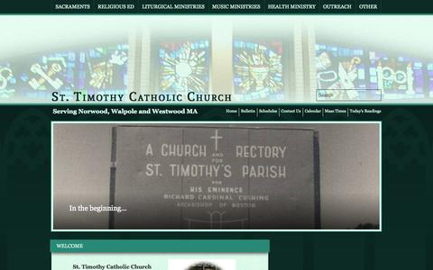 Screenshot of Site Map Page sttim.net - St. Timothy | Norwood, MA - captured Oct. 6, 2014