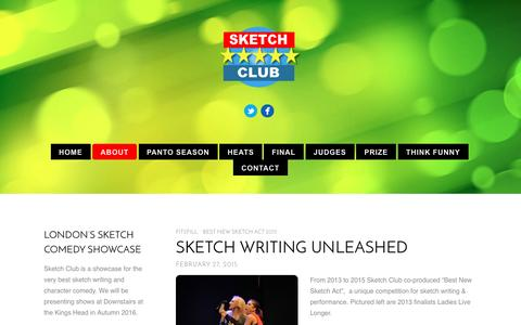 Screenshot of About Page sketchclub.co.uk - SKETCH WRITING UNLEASHED - Sketch Club - captured June 10, 2016