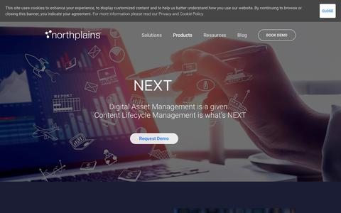 Screenshot of Products Page northplains.com - NEXT   Northplains - captured July 17, 2018