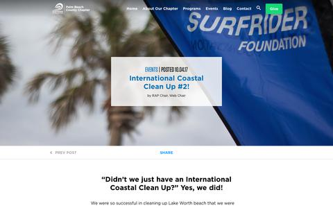 Screenshot of Signup Page surfrider.org - Palm Beach County Chapter - Surfrider Foundation - captured Oct. 25, 2017