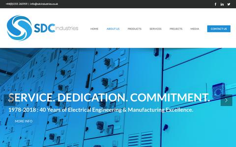 Screenshot of About Page sdcindustries.co.uk - About Us - SDC Industries - captured July 25, 2018
