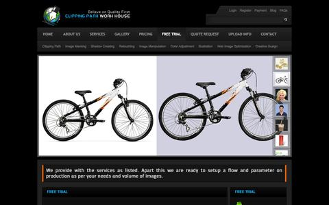 Screenshot of Trial Page clippingpathworkhouse.com - Free Trial | You can send us 2 Image to see the quality we provide - captured Sept. 30, 2014