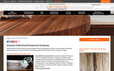 Screenshot of glumber.com - Grothouse Exclusive Solid Wood Products made in USA - captured Oct. 26, 2017