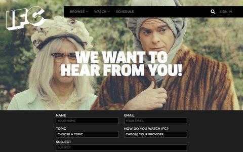 Screenshot of Contact Page ifc.com - Contact Us | IFC - captured Oct. 29, 2015