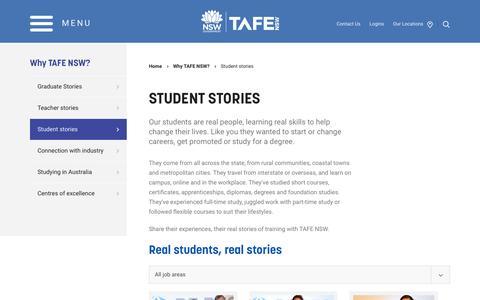 Student stories - TAFE