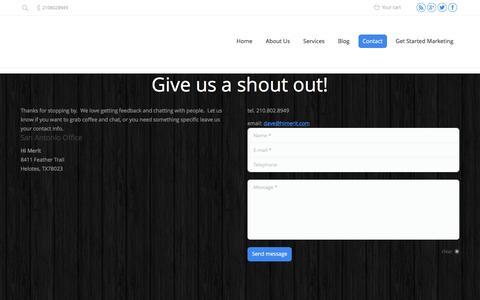 Screenshot of Contact Page himerit.com - Contact - Hi Merit - captured Dec. 5, 2015