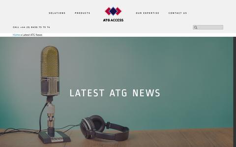 Screenshot of Press Page atgaccess.com - Latest ATG News - ATG Access - captured Feb. 5, 2016