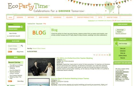 Screenshot of Blog ecopartytime.com - Articles  - Ecopartytime - captured Oct. 2, 2014