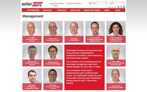 Screenshot of Team Page solaredge.com - Management | Solaredge - captured April 17, 2016