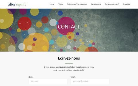 Screenshot of Contact Page alter-equity.com - Contact v.3 AE - captured Nov. 4, 2018