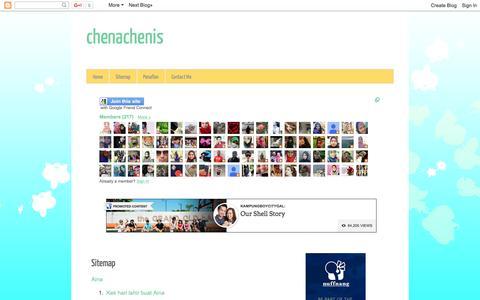 Screenshot of Site Map Page chenachenis.blogspot.com - chenachenis: Sitemap - captured Jan. 19, 2016