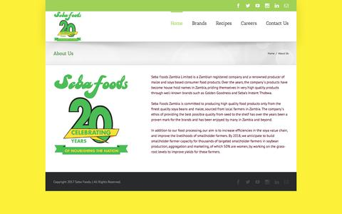 Screenshot of About Page sebafoods.co.zm - About Us - Seba Foods - captured Oct. 6, 2017