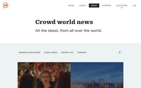 Screenshot of Press Page thisiscrowd.com - Crowd News: the latest happenings at Crowd around the world - Crowd - captured Oct. 6, 2018