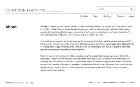 About – Andreessen Horowitz